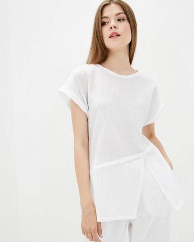 Блузка с короткими рукавами - белая Zubrytskaya