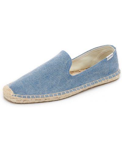 Парусиновые синие тапочки Soludos
