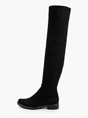 Черные текстильные сапоги Caprice