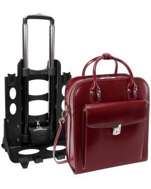 Czerwona torebka skórzana elegancka Mcklein