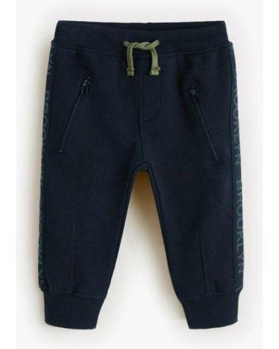 Синие брюки спортивные Mango Kids