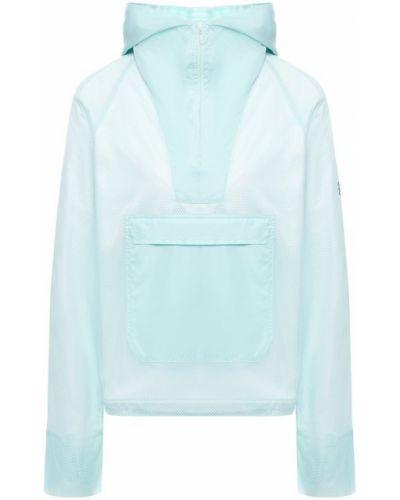 Куртка с капюшоном бирюзовый на молнии Monreal London