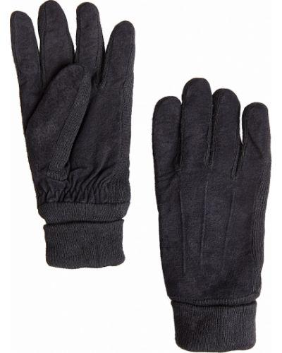 Кожаные перчатки черные акриловые Finn Flare