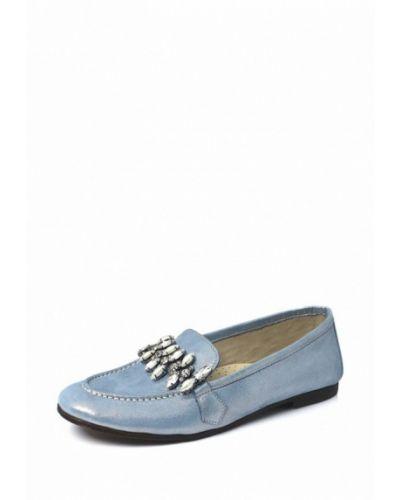 Голубые мокасины кожаные Blizzarini