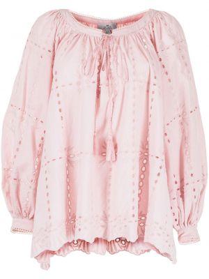 Розовая блузка с вышивкой с завязками We Are Kindred