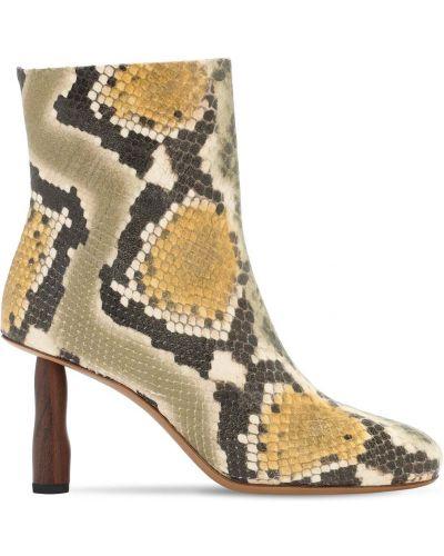 Сапоги на шпильке на каблуке из натуральной кожи с подкладкой Rejina Pyo