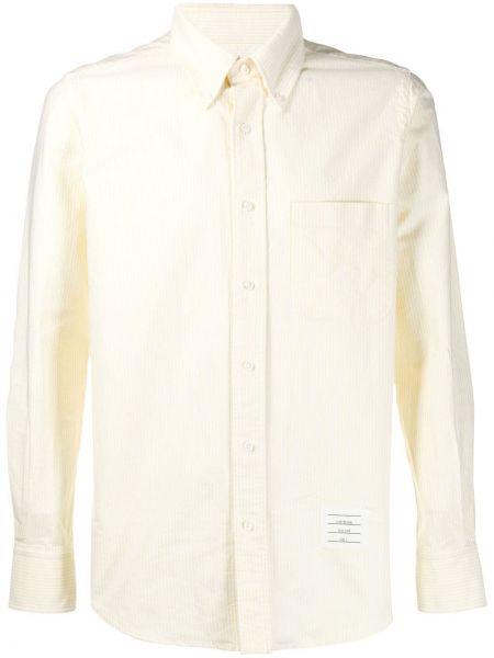 Koszula z długim rękawem klasyczna z paskami Thom Browne