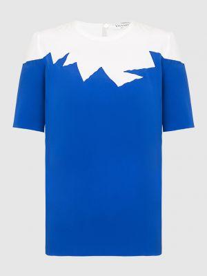 Синяя шелковая блузка Vionnet