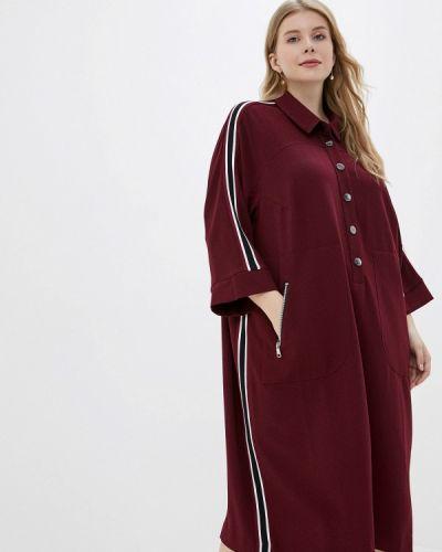Платье бордовый платье-рубашка Averi