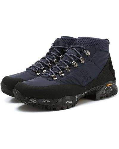 Кроссовки на шнуровке комбинированные Premiata