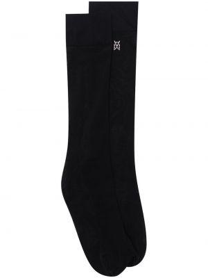Черные носки с логотипом Wolford