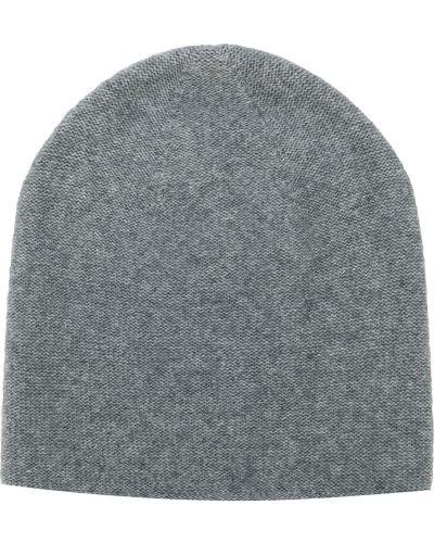 Серая кашемировая теплая шапка бини Warm-me