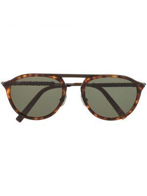Солнцезащитные очки металлические хаки с завязками Tod's