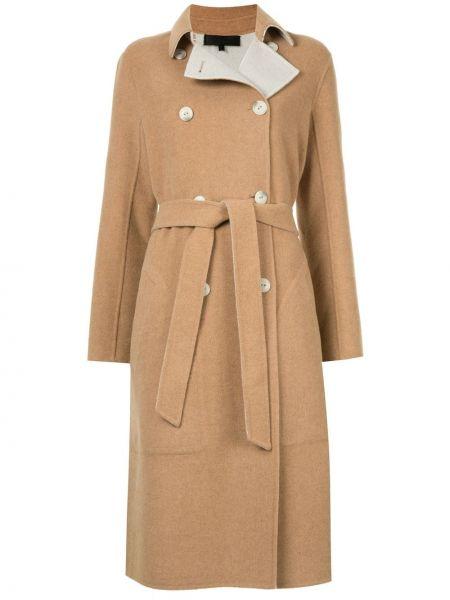 Длинное пальто без воротника шерстяное Rag & Bone
