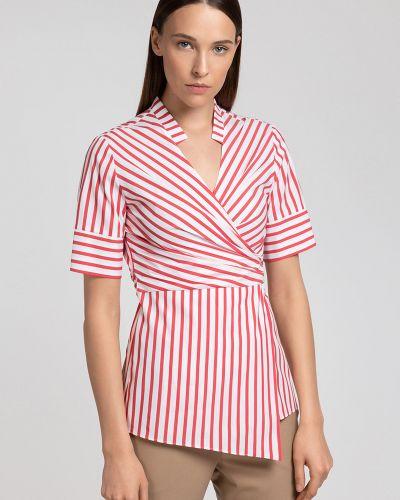 Блузка с запахом с поясом Vassa&co