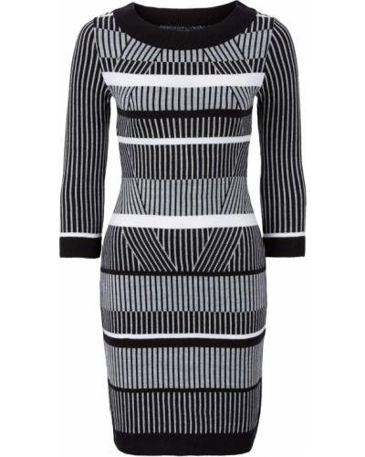 Облегающее платье в полоску классическое Bonprix