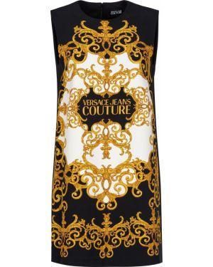 Платье из полиэстера - черное Versace Jeans