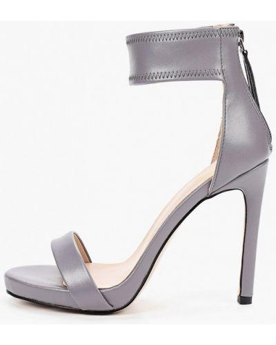 Серые кожаные босоножки Diora.rim