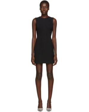 Платье с отложным воротником черное Dolce & Gabbana