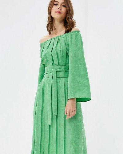 Платье осеннее зеленый Love & Light