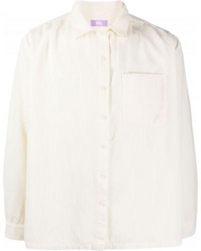 Biała koszula bawełniana z długimi rękawami Erl
