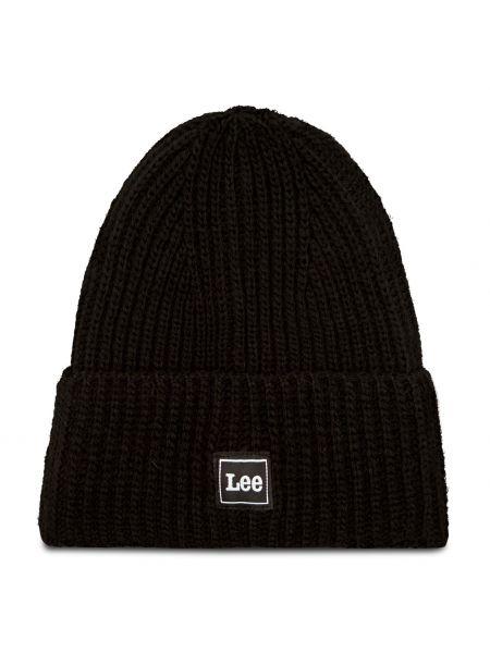 Czapka beanie - czarna Lee