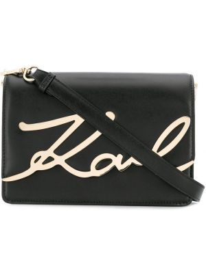 Czarna torebka skórzana Karl Lagerfeld