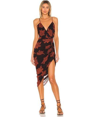 Асимметричное черное платье с подкладкой Karina Grimaldi