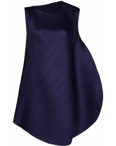 Плиссированное платье - синее Pleats Please Issey Miyake