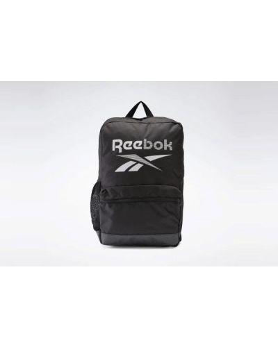Czarna torebka miejska w paski Reebok