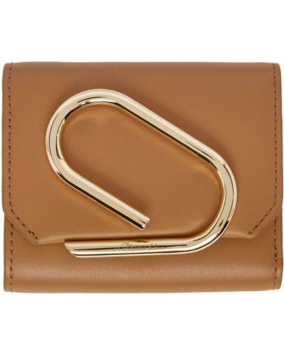 Skórzany portfel na monety złoto z gniazdem 3.1 Phillip Lim