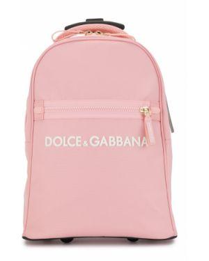 Прямая базовая розовая сумка круглая Dolce & Gabbana Kids