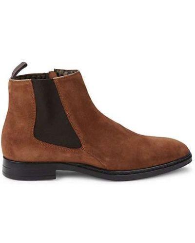 Замшевые ботинки челси на каблуке с подкладкой Karl Lagerfeld Paris