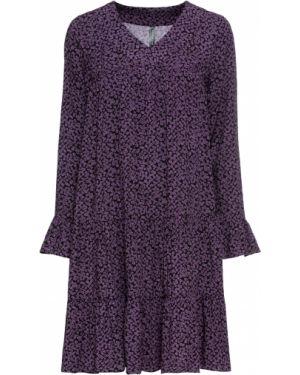 Платье миди с цветочным принтом длинное Bonprix
