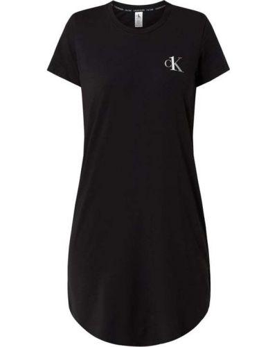 Koszula nocna bawełniana - czarna Ck One