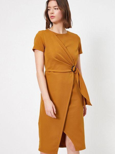 Коричневое платье Koton