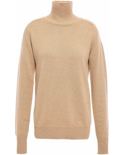 Prążkowany żółty z kaszmiru sweter Victoria Beckham