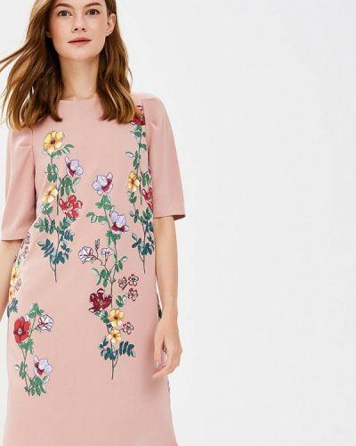 Платье осеннее розовый Zarina