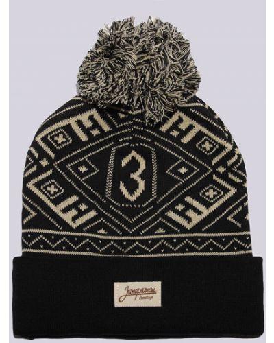 Черная шапка хлопковая Запорожец Heritage