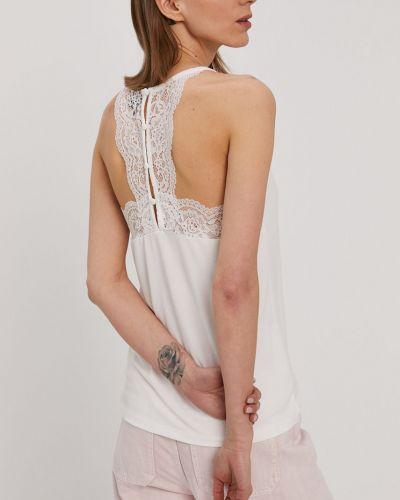 Biała bluzka koronkowa dzianinowa Vero Moda