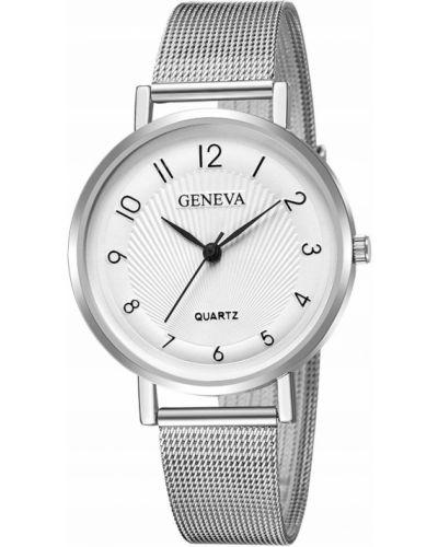 Biały klasyczny zegarek Geneva