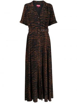 Платье макси длинное - коричневое Staud