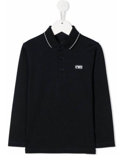 Рубашка с логотипом Emporio Armani Kids