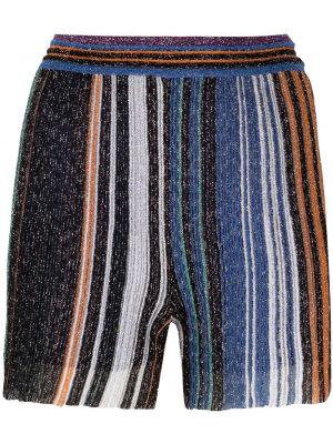 Шелковые шорты в полоску с поясом Missoni