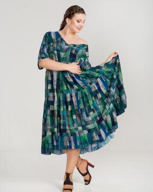 Летнее платье с V-образным вырезом платье-сарафан прима линия