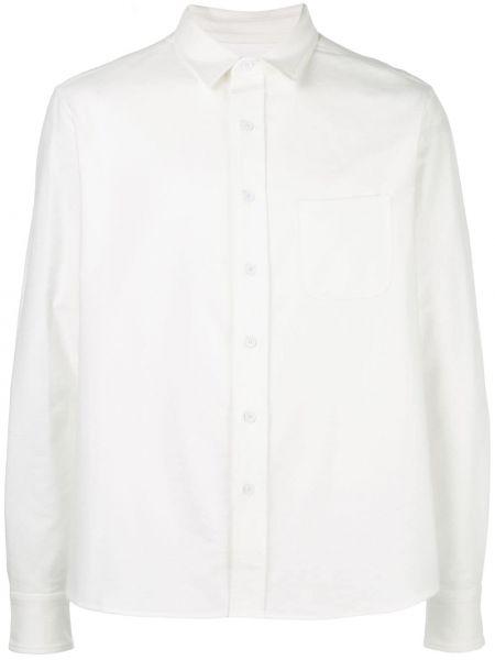 Biała klasyczna koszula bawełniana z długimi rękawami Simon Miller