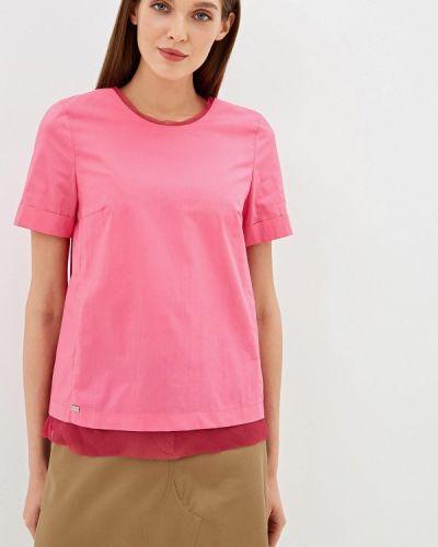 Блузка с коротким рукавом розовая весенний Emi