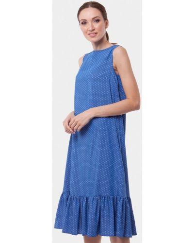 Платье миди весеннее синее Vladi Collection