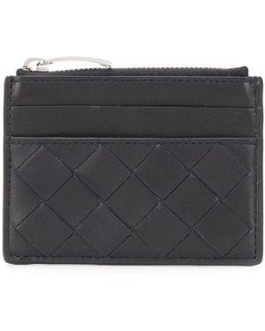 Кожаный кошелек черный Bottega Veneta