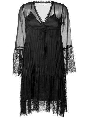 Плиссированное свободное платье макси с вышивкой Mcq Alexander Mcqueen